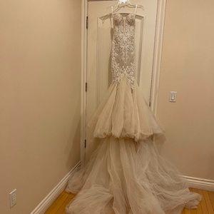 Berta Privee Wedding Dress, Ivory, Size 36 (Altered)
